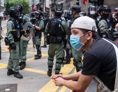 """Gaz pieprzowy i ponad 200 zatrzymanych w Hongkongu. """"Chociaż boisz się w..."""