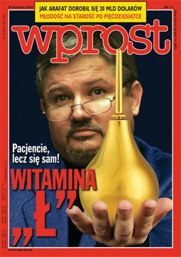 Okładka tygodnika Wprost nr 17/2002 (1013)