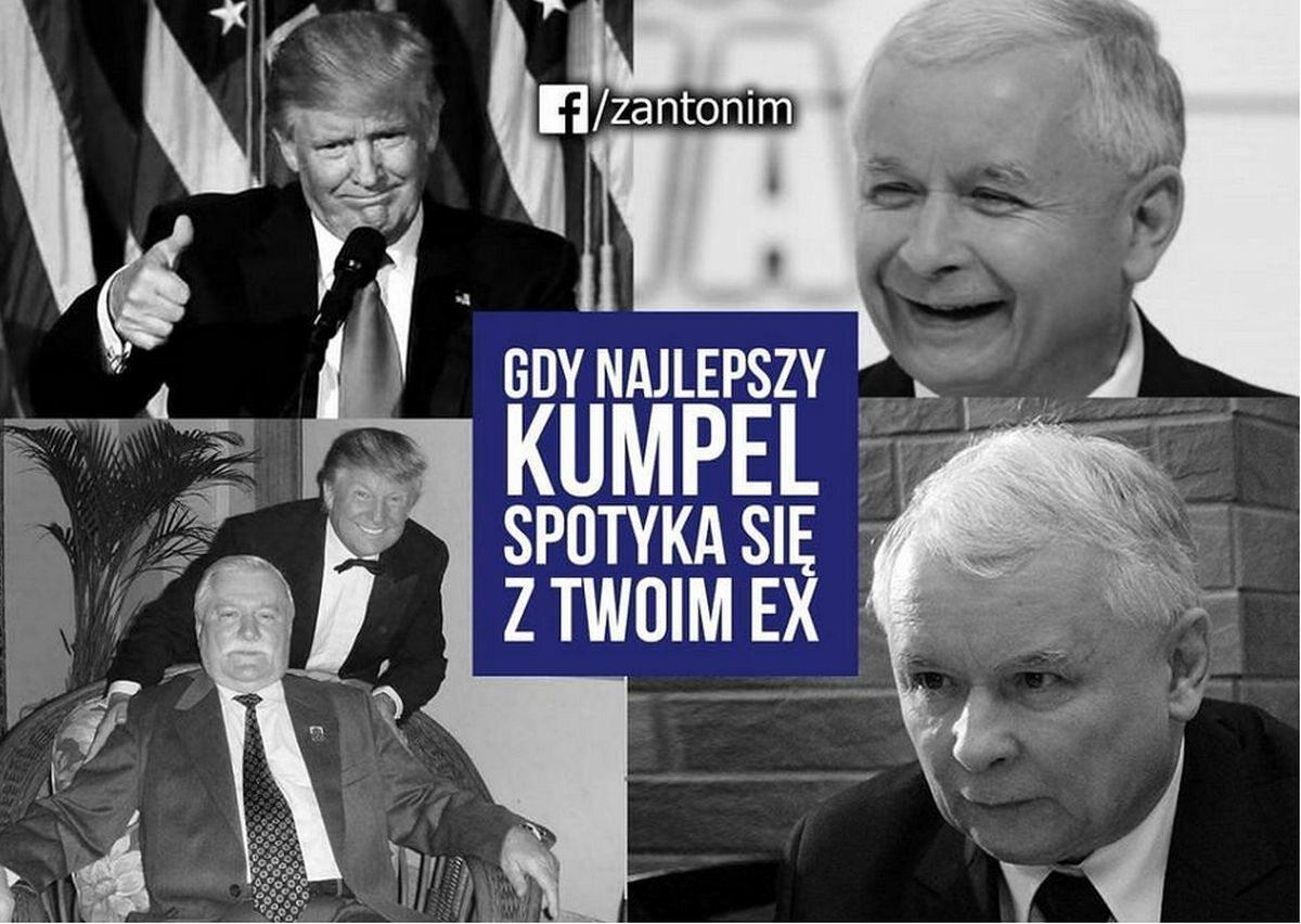 Donald Trump w Polsce. [MEMY]