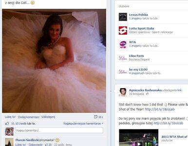 """""""Głosujcie na mnie"""" - Radwańska zachęca... zdjęciem w sukni ślubnej"""