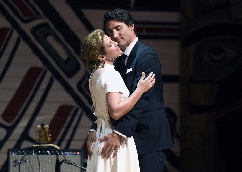 Premier Kanady Justin Trudeau z żoną