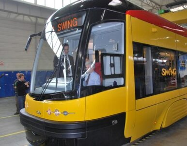 Ogromny korek tramwajowy w centrum Warszawy