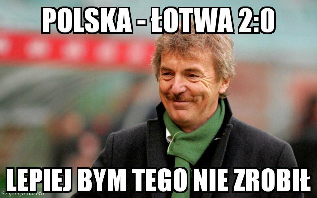 Mem po meczu Polska - Łotwa