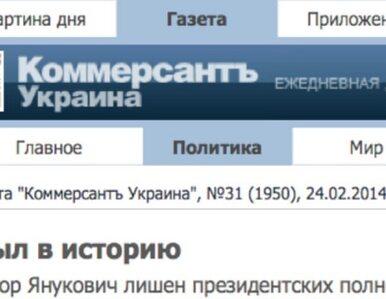 Ukraińska prasa: Janukowycz przeszedł do historii
