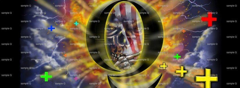 Logo grupy @real QAnon na Facebooku