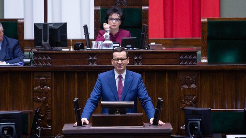 Mateusz Morawiecki w Sejmie