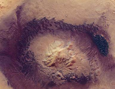 Krater na Marsie ma 135 km średnicy! NASA pokazała zdjęcia Moreux