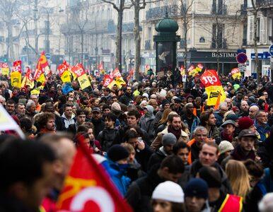 """""""Czarny wtorek"""" we Francji. Zastrajkowali pracownicy kolei, sektora..."""