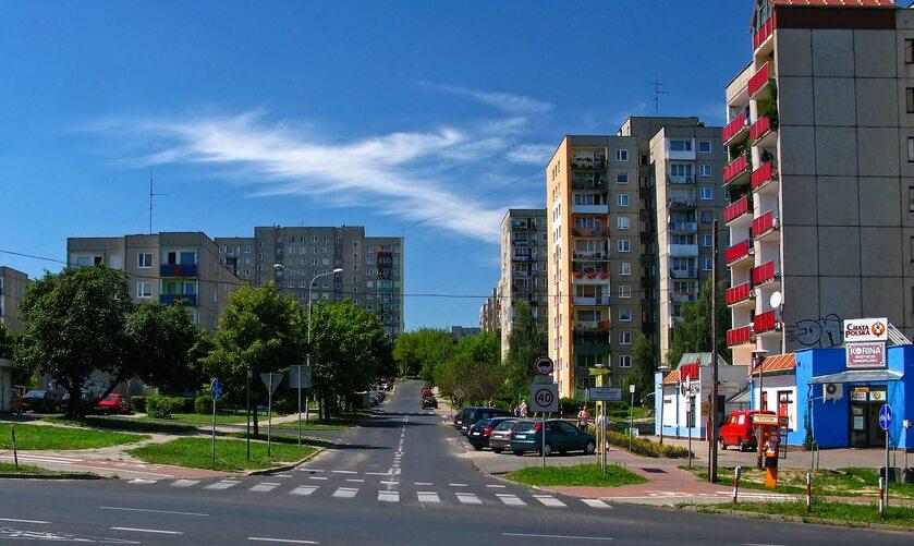 Bloki mieszkalne w Zielonej Górze