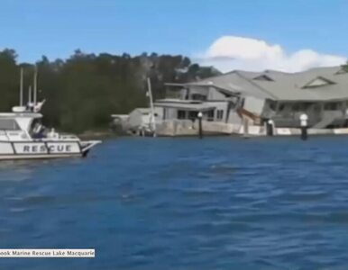 Przybrzeżna restauracja zwaliła się do jeziora w Australii