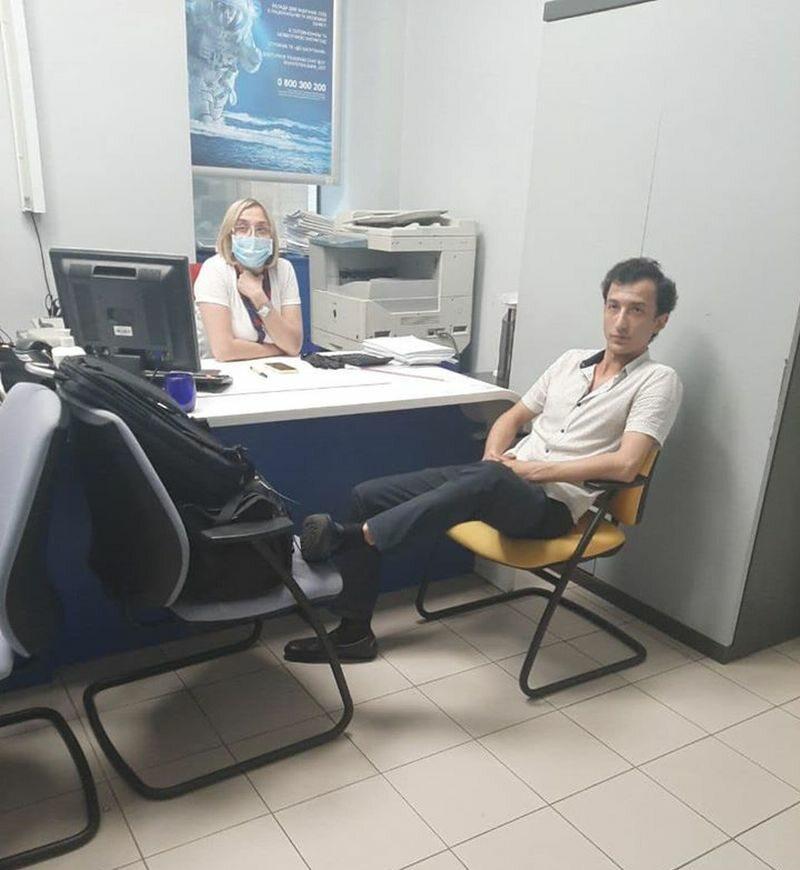 Zdjęcie zamachowca zamieszczone na Facebooku przez wiceministra spraw wewnętrznych Ukrainy