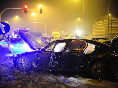 Kierowca Macierewicza oskarżony o spowodowanie karambolu pod Toruniem