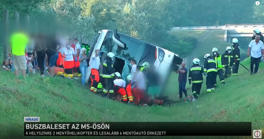 Wypadek autokaru z Polakami na Węgrzech