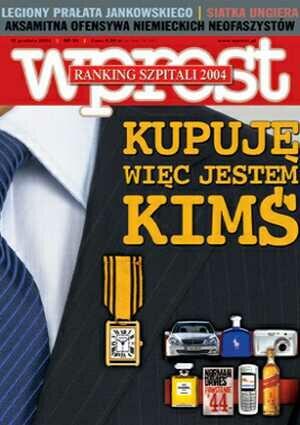 Okładka tygodnika Wprost nr 50/2004 (1150)