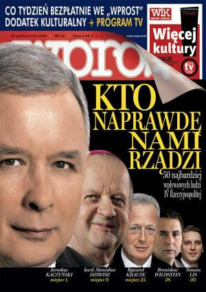 Okładka tygodnika Wprost nr 42/2006 (1244)