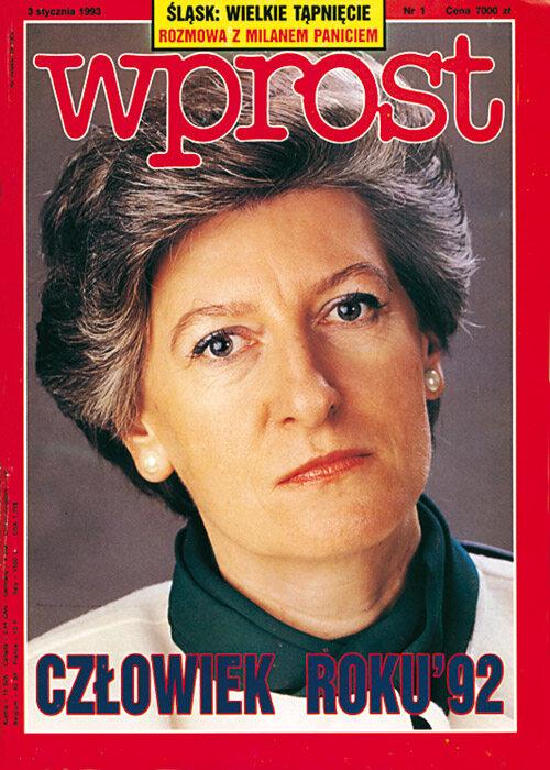 Okładka 1/1993 (528) WPROST Okładka 1/1993 (528) WPROST