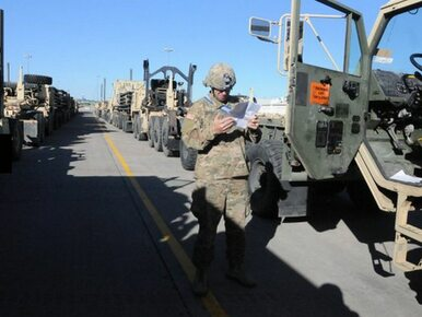 Kolizja z udziałem lawety wiozącej amerykański czołg