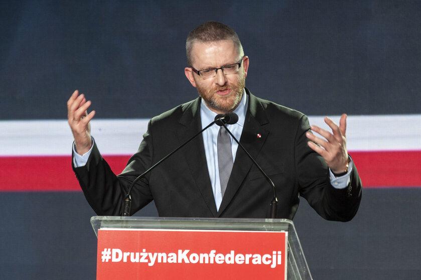 Grzegorz Braun na konwencji Konfederacji