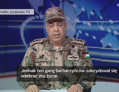 Jordańska armia: Pomścimy śmierć naszego pilota