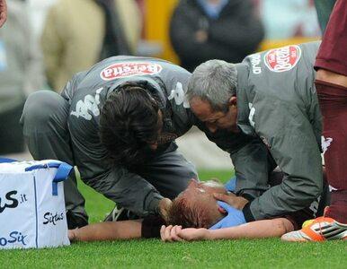 Serie A: Glika z boiska znieśli na noszach