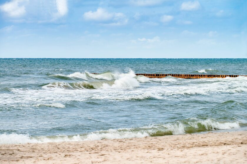 Bałtyk, plaża w Łebie