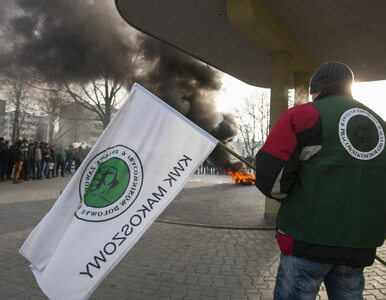 Protest górników z kopalni Makoszowy. Chodzi o utrzymanie miejsc pracy