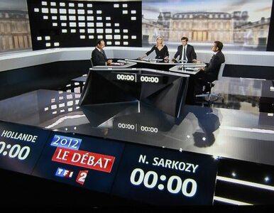 """Gorąca debata Sarkozy`ego z Hollandem. """"Pan jest małym oszczercą"""""""