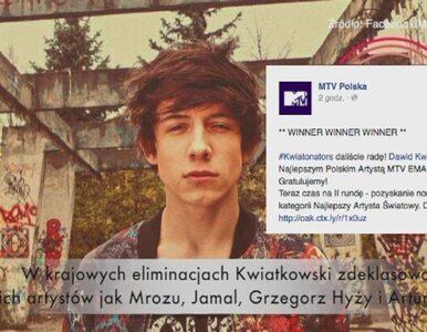 Dawid Kwiatkowski najlepszym polskim artystą MTV EMA 2014