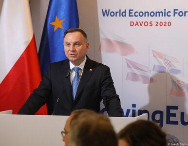 Andrzej Duda w Davos: Polska była dzisiaj wymieniana jako kraj, który...