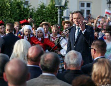 """Wizyta w Leżajsku. Prezydent Duda o """"wyimaginowanej wspólnocie, z której..."""