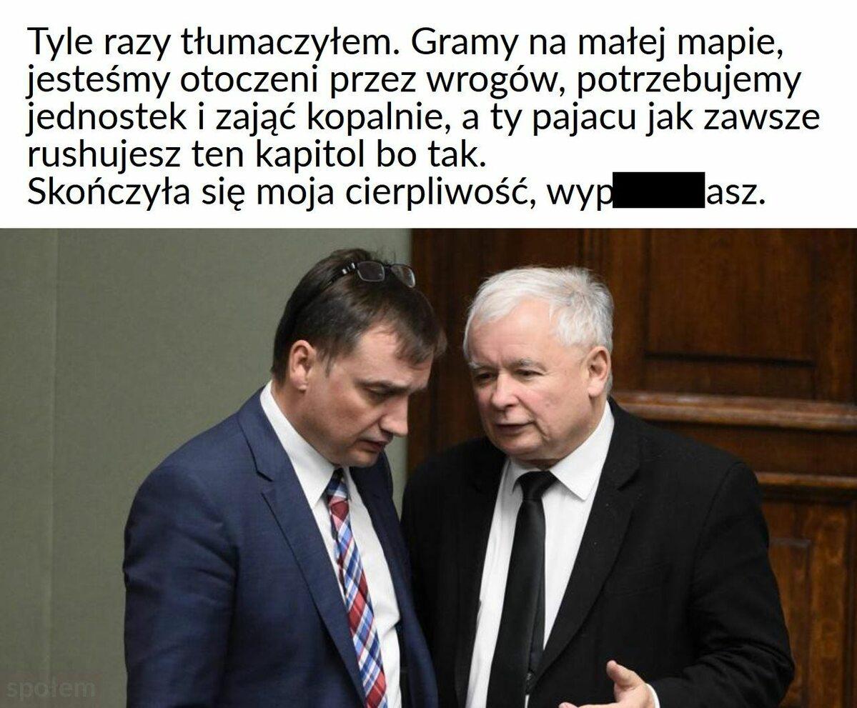 Mem komentujące polityczną walkę o ustawę futerkową