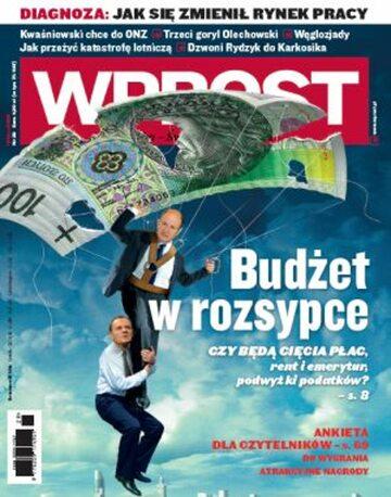 Okładka tygodnika Wprost nr 29/2009 (1384)