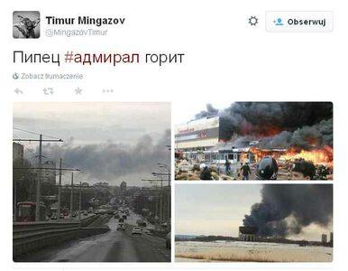 Pożar centrum handlowego w Rosji. Siedem osób rannych