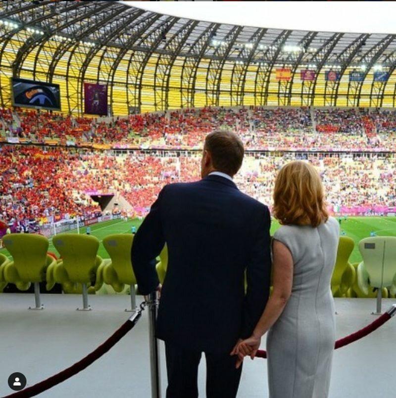 Donald Tusk na stadionie w Gdańsku