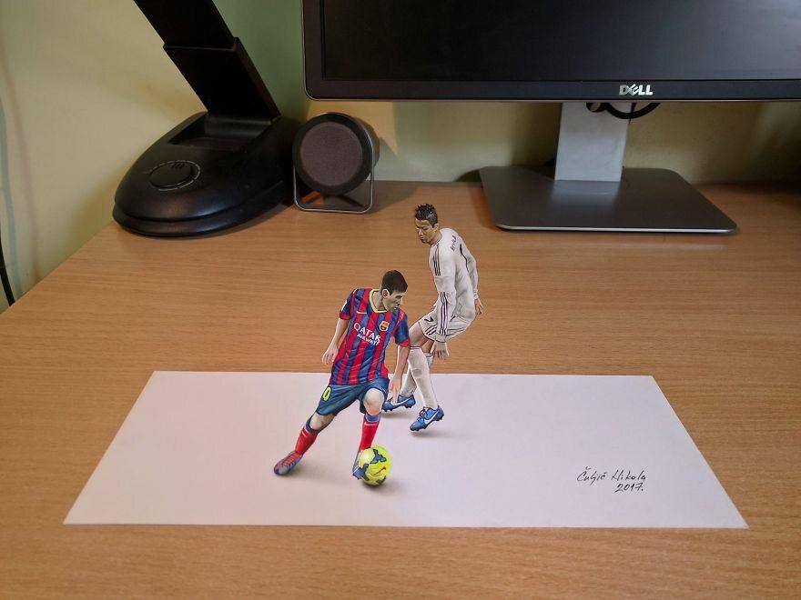 Trójwymiarowy rysunek Nicoli Čuljića