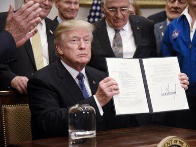 """Trump """"rusza w kosmos"""". Planuje założenie bazy na Księżycu i podróż na..."""