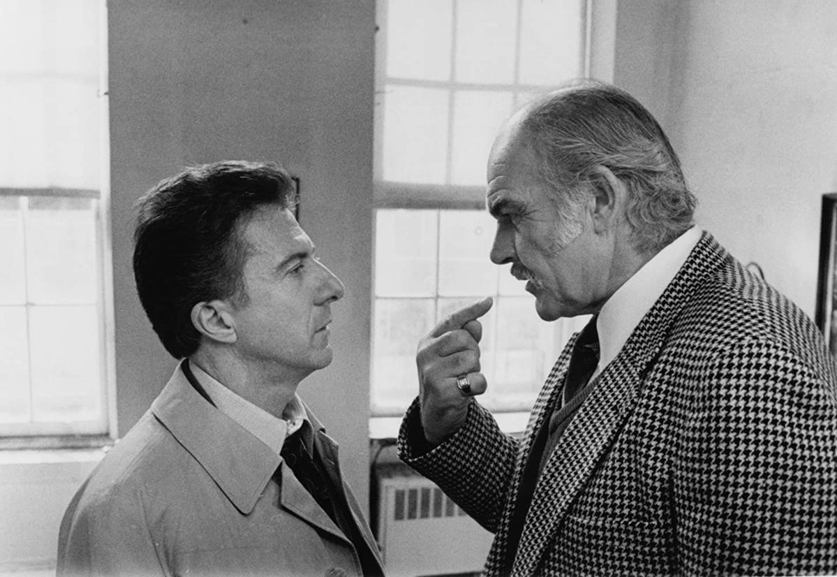 "Sean Connery i Dustin Hoffman w filmie ""Rodzinny interes"" (1989)"