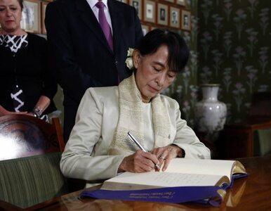 """Suu Kyi prosi o pomoc dla Birmy. """"Mnie wypuścili, ale czy wypuszczą..."""