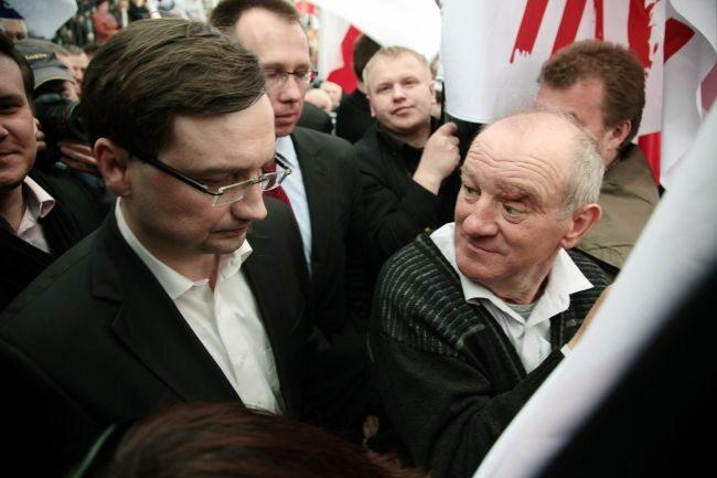 W manifestacji wziął - rzecz jasna - udział Zbigniew Ziobro (fot. PAP/Tomasz Gzell)