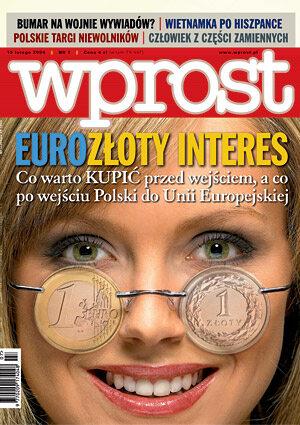 Okładka tygodnika Wprost nr 7/2004 (1107)