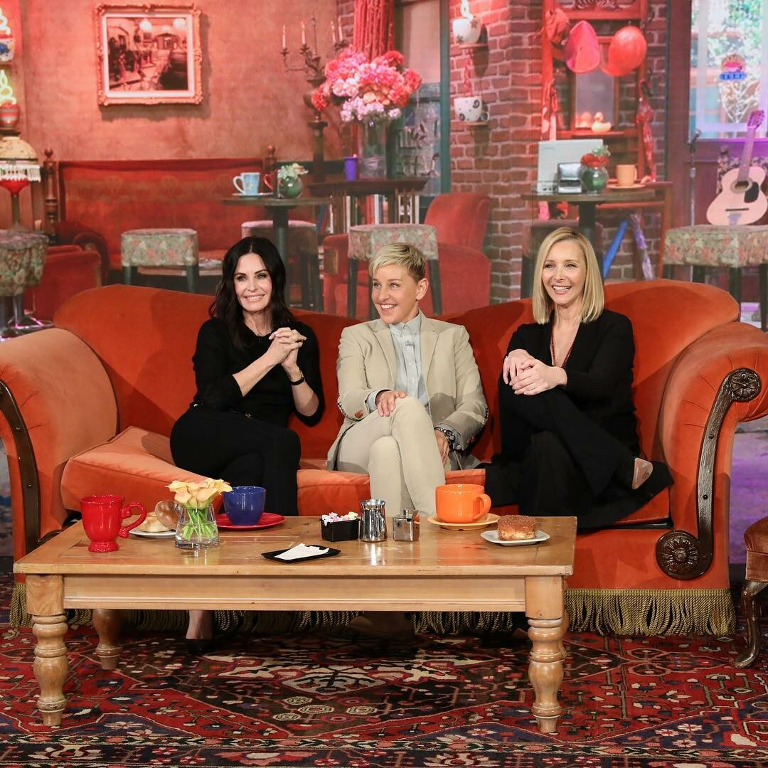 Lisa Kudrow i Courtney Cox w programie Ellen DeGeneres