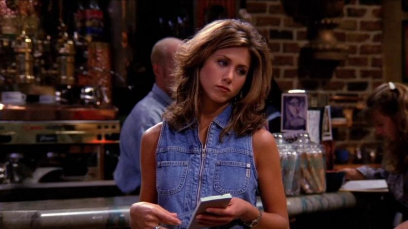 """Jennifer Aniston jako Rachel Green w serialu """"Przyjaciele"""""""