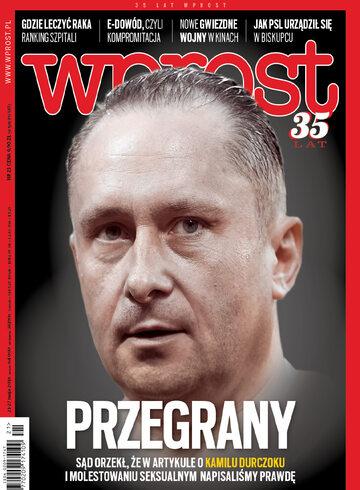 Okładka tygodnika Wprost nr 21/2018 (1836)