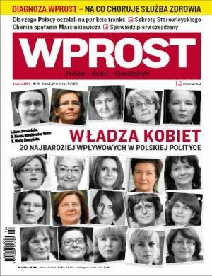 Okładka tygodnika Wprost nr 10/2009 (1365)